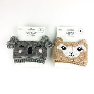 Capelli Koala & Llama Knit Boot Cuffs Bundle